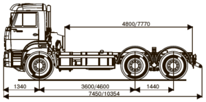 ШАССИ KAMAZ-6520-53