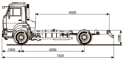 ШАССИ KAMAZ-43253-69 (G5)