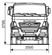 ШАССИ KAMAZ-65201-53