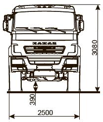 ШАССИ KAMAZ-5350-66 (D5)