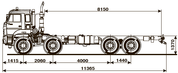 ШАССИ KAMAZ-6560-53