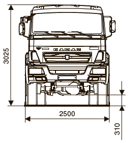 ШАССИ KAMAZ-65111-50