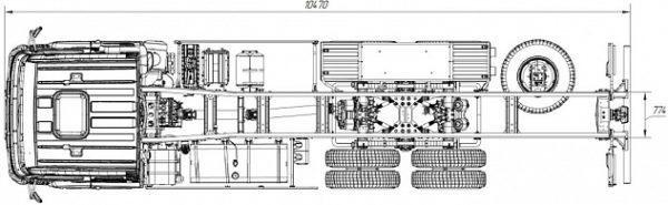 ШАССИ KAMAZ-6580-3001-20 (J5)